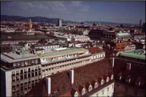 A view of Vienna from the tower of the Cathedral