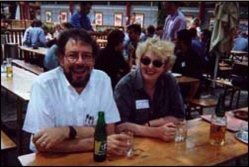 Dick Burian, past ISHPSSB President, and Anne McNabb, longtime ISHPSSB supporter.
